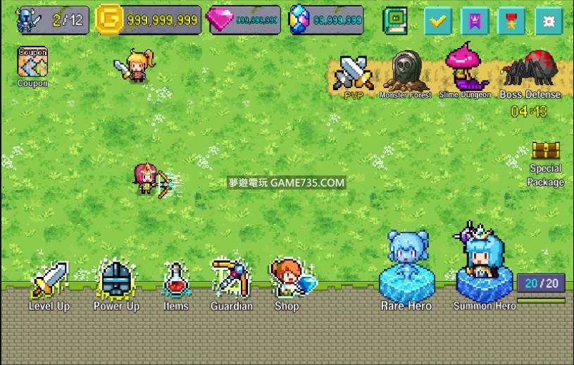 【修改版+有中文化】Hero Evolution : SP 去廣告 無限金錢+資源 MOD V1.1.1